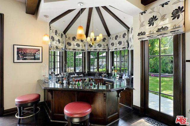 Rotunda bar in the family room