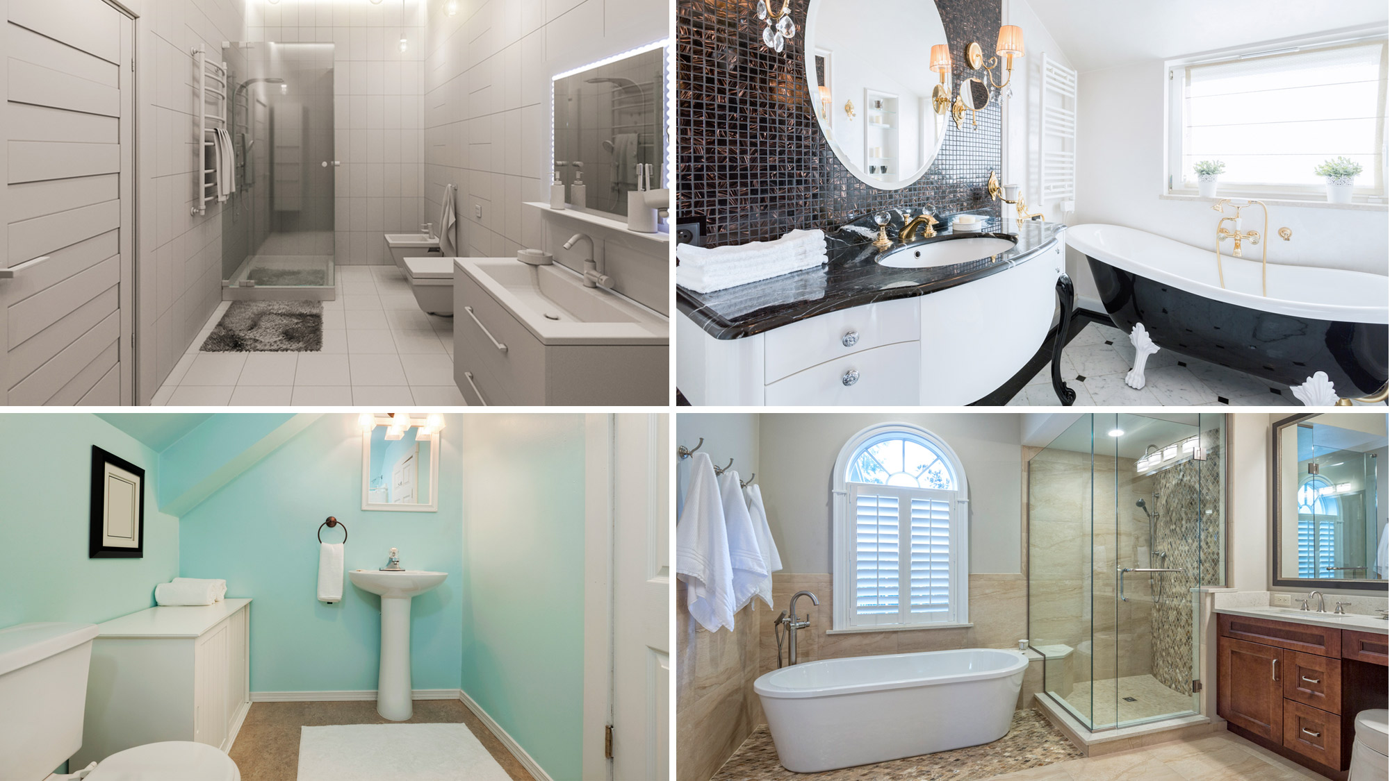 What is a Full Bath? Without These Four Parts, It's a Fraction of a Bathroom