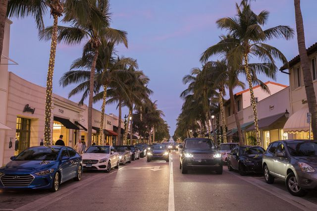 Worth Avenue in Palm Beach is home to upscale stores and restaurants