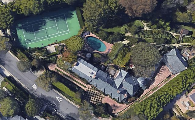 Satellite view of the mansion.